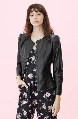 Rebecca Taylor Scalloped Leather Jacket