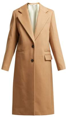 Joseph Magnus Single Breasted Wool Blend Coat - Womens - Camel