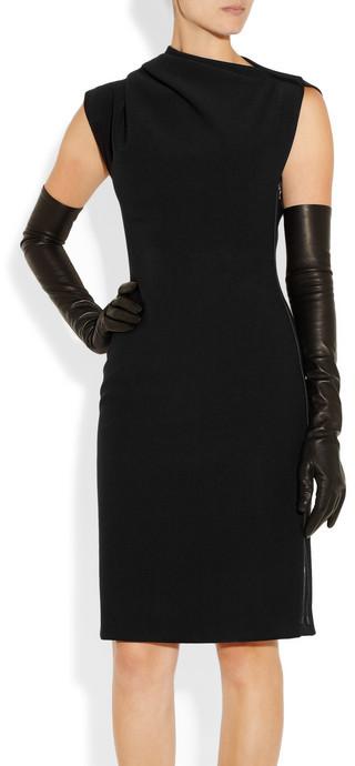 Lanvin Gathered stretch-ponte dress