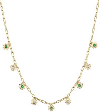 Ark Emerald and Diamond Mini Gateway Necklace
