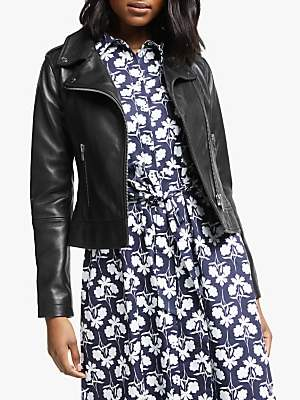 Morleigh Leather Jacket, Black