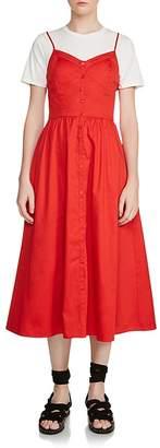 Maje Rimana Two-Piece Midi Dress