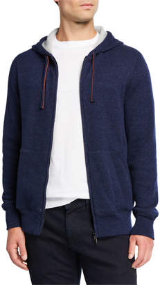 Loro Piana Men's Snuggly Cashmere Hoodie Jacket