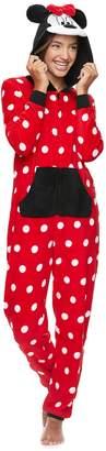 Disney Disney's Minnie Mouse Juniors' Hooded One-Piece Pajamas