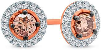 FINE JEWELRY 1/2 CT. T.W. Multi Color Diamond 10K Gold 6.8mm Stud Earrings