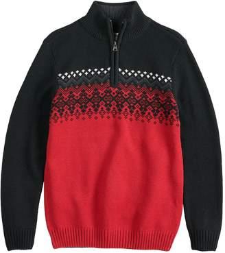 Boys 8-20 Urban Pipeline Fairisle Quarter-Zip Sweater
