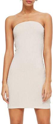 Topshop Tie Back Bandeau Mini Dress