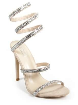 Catherine Malandrino Click Crystal Embellished Wrapped Stiletto Sandal