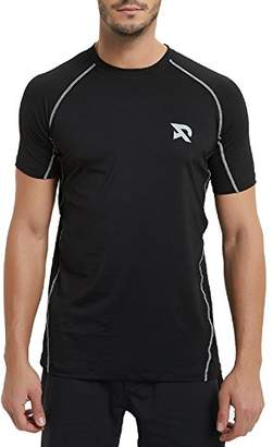 RADHYPE Men Polyester Fitted Short Sleeve Athletic Tshirt Training Top L