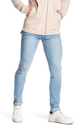"Soul Star Distressed Skinny Fit Jeans - 30-34"" Inseam"