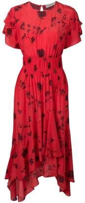 Preen Line floral print asymmetric dress