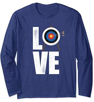 Distressed look Love Archery Long Sleeve T Shirt Archery Tee