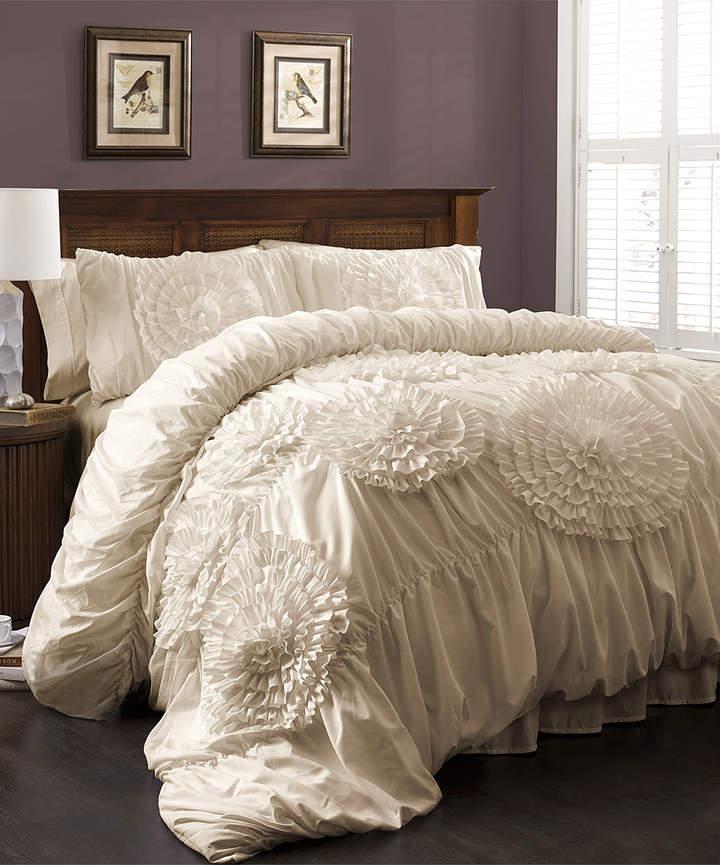 Ivory Magnolia Comforter Set