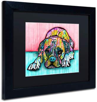 Trademark Global Dean Russo 'Lying Boxer' Matted Framed Art