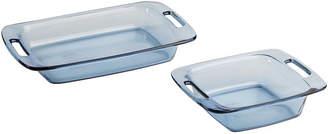 Pyrex 2-pc. Easy Grab Atlantic Blue Bakeware Set