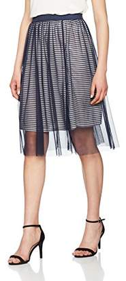 Only Women's Onlmesh Stripe Skirt JRS Skirt,(Manufacturer Size: Medium)