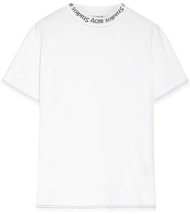 Acne Studios Meike Intarsia Cotton T-shirt
