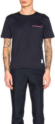 Thom Browne Jersey Cotton Short Sleeve Pocket Tee