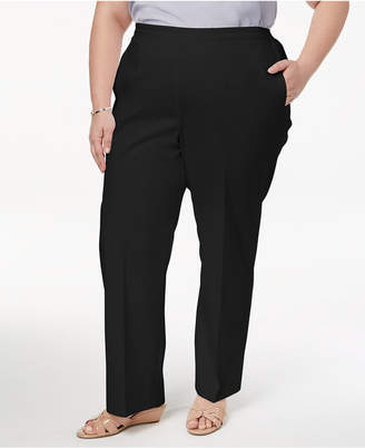 Alfred Dunner Barcelona Plus Size Straight-Leg Pants