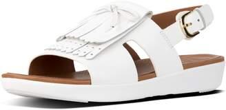 FitFlop H-Bar Fringe Leather Back-Strap Sandals