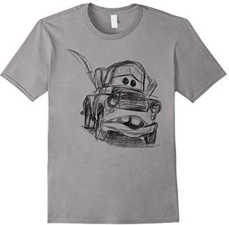 Disney Pixar Cars Mater Illustrated Line Art Graphic T-Shirt