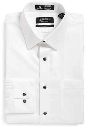 Nordstrom Trim Fit Herringbone Dress Shirt