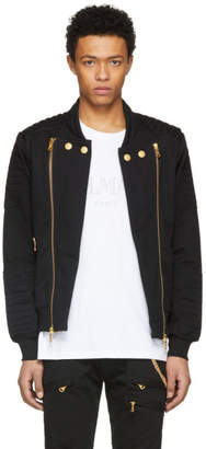 Pierre Balmain Black and Gold Zipper Jacket
