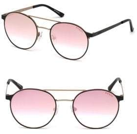 GUESS 52MM Round Top-Bar Sunglasses