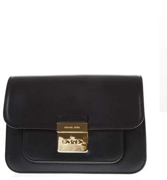 MICHAEL Michael Kors Black Leather Crossbody Bag