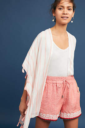 Anthropologie Beachcomber Embroidered Shorts