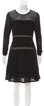 Diane von Furstenberg Long Sleeve Lace Dress