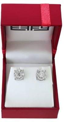 Effy Bouquet Diamonds and 14K White Gold Stud Earrings