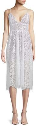 For Love & Lemons Women's Botanic Lace Midi Dress