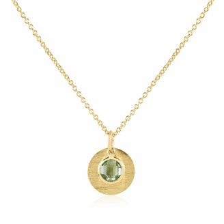 Auree Jewellery Bali 9Ct Gold August Birthstone Necklace Green Amethyst