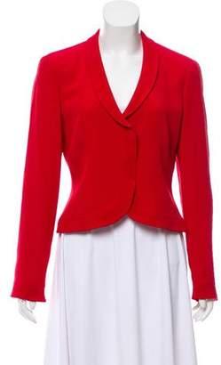 Armani Collezioni Structured Shawl Collar Blazer