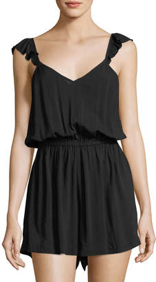 Seafolly Ruffled-Strap Coverup Playsuit