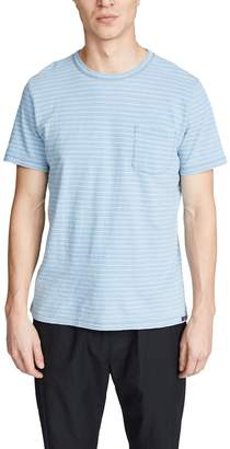 Faherty Short Sleeve Indigo Pocket T-Shirt