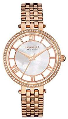 Bulova Women's Quartz Stainless Steel Casual Watch, Color:Rose Gold-Toned (Model: 44L171) $55.06 thestylecure.com