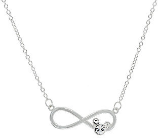 "Disney Crystal Mickey Infinity Design Necklace, 18"" $12.37 thestylecure.com"