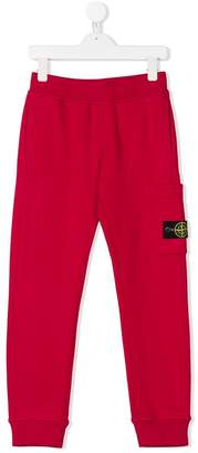 Stone Island Junior logo patch track pants