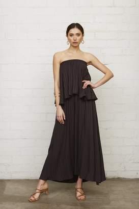 Rachel Pally Shadow Stripe Polly Dress - Faded Black