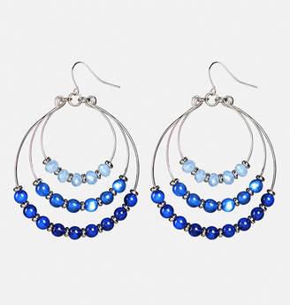 Avenue Layered Bead Hoop Earrings