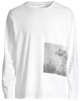 Ovadia & Sons Cheetah Photo Long-Sleeve T-Shirt