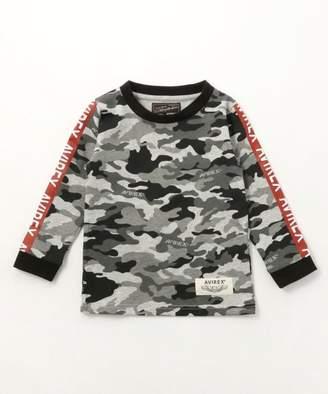 Avirex (アヴィレックス) - AVIREX キッズ/カモフラ袖ラインTシャツ/KIDS/CAMO LINED T-SHIRT/AVI002