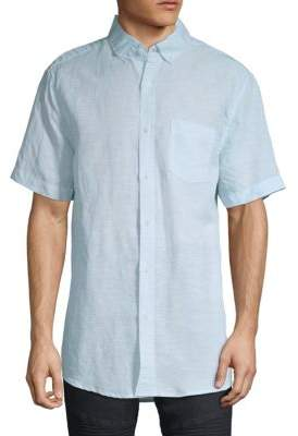 Saks Fifth Avenue Solid Short-Sleeve Button-Down Shirt