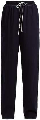 MM6 MAISON MARGIELA High-rise wide-leg denim trousers