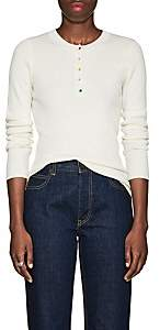 Lisa Perry Women's Rib-Knit Cashmere Henley - White