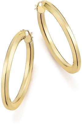 Bloomingdale's 14K Yellow Gold Faceted Tube Hoop Earrings - 100% Exclusive