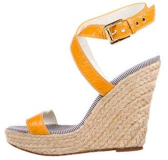 5901c64aa81 DSQUARED2 Leather wedge Sandals