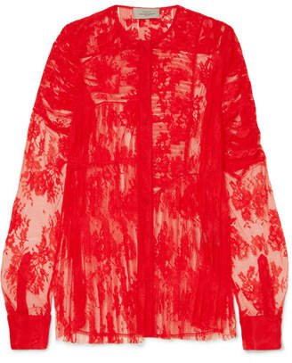 Preen by Thornton Bregazzi Celeste Lace Blouse - Red